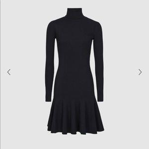 Reiss knitted flippy hem dress size S